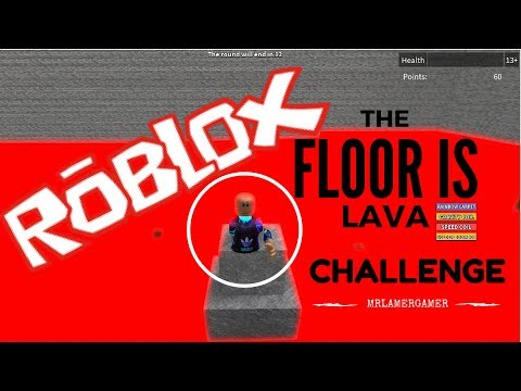 THE FLOOR IS LAVA - ROBLOX - CHALLENGE