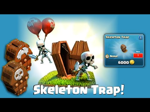 footage - Clash of Clans Update - Skeleton Trap - the Clash of Clans Halloween update is almost here! Clash of Clans Attacks is proud to be able to bring you the world premiere of the new Skeleton Trap...