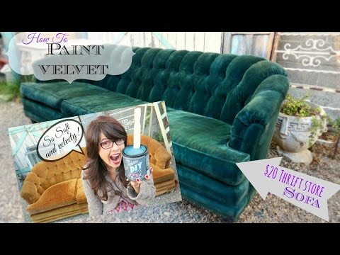 How to Paint Upholstery, keep it soft, and velvety! No cracking or hard texture!