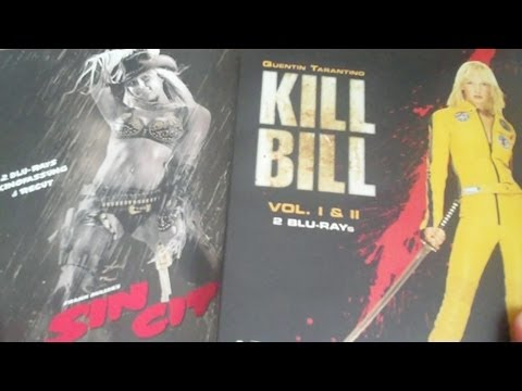 Sin City & Kill Bill Vol 1 And 2 Blu-Ray Steelbooks Review