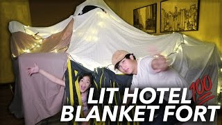 Video WE TURNED OUR HOTEL ROOM INTO A FORT | Ranz and Niana MP3, 3GP, MP4, WEBM, AVI, FLV Oktober 2018