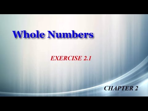 Whole Numbers 2.1
