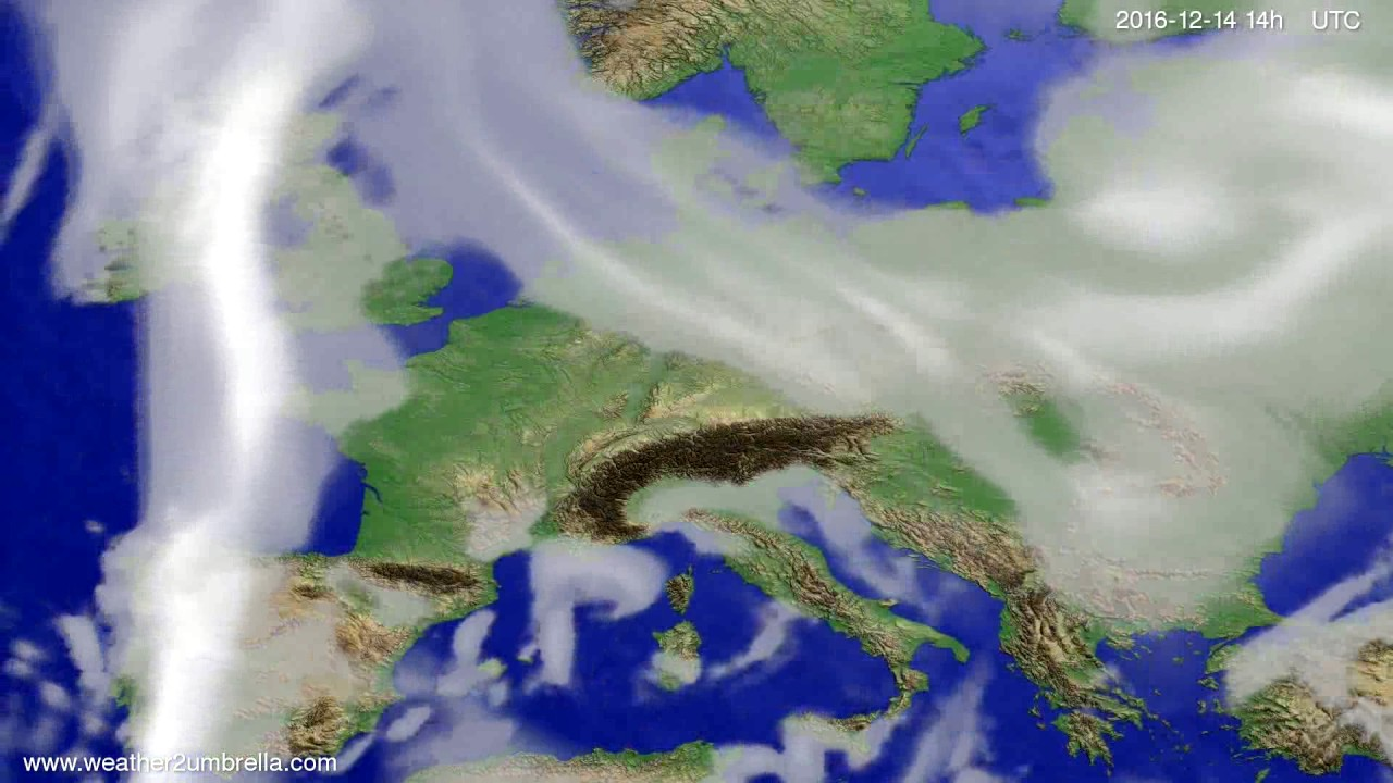 Cloud forecast Europe 2016-12-10
