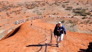 Ayers Rock (Uluru) Australia  city photos : Ayers Rock - Climbing Uluru in Australia 4K