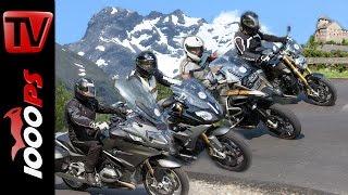 7. BMW Boxer Vergleich Alpen | R 1200 R, R 1200 RS, R 1200 RT, GS Adventure