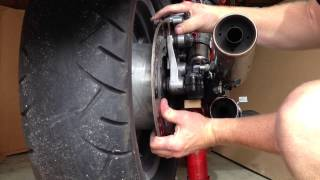 9. Changing The Rear Tire On A Honda Shadow VT1100