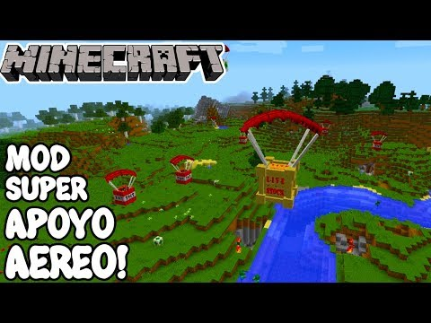 Minecraft 1.12.2 MOD SUPER APOYO AÉREO! Air Support Mod Español!