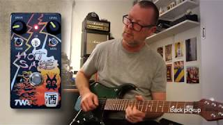 http://www.godlyke.com/totally-wycked-audio-effects-pedals/hand-built/hot-sakeA late jam - indulgence. I'm sharing because I wanted to give overdrive freaks a heads up. This is the Hot Sake, a drive made by Kev and the guys at Totally Wycked Audio aka TWA (Godlyke) in the US. I think it's a little unsung. The guitar is my Music Man JP15-7, a masterpiece and monster of a thing that is probably over my head, but I don't care. The amp is a '65 Twin (the real thing, ironically) modelled in the latest Axe-FX firmware. I threw some reverb and 2290 delay on it because I can. That drive. Special.A proper demo explaining all the controls with a 6-string guitar and Laney amp is forthcoming. Rock.