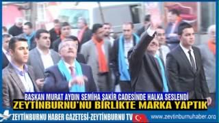 Başkan Murat Aydın Samiha Şakir Cadesinde Halka Seslendi