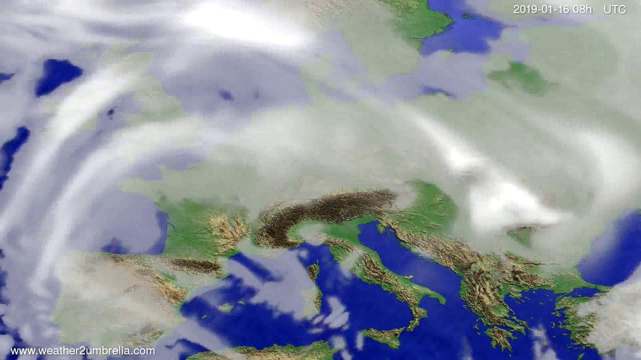 Cloud forecast Europe 2019-01-13