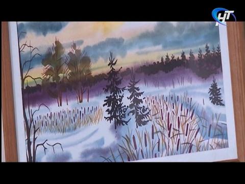 В школе №14 открылась выставка работ Виктора Шаруненко