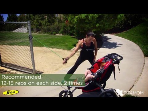 BOB & FIT4MOM Stroller Exercises - 3 Lunges ft. High Fives