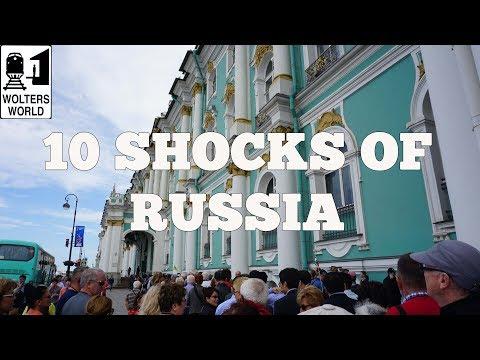 Visit Russia - 10 SHOCKS of Visiting RUSSIA (видео)