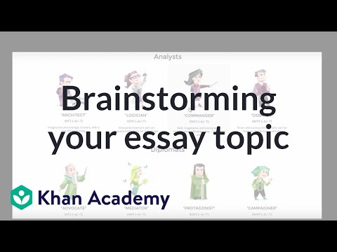 essay writing brainstorming techniques