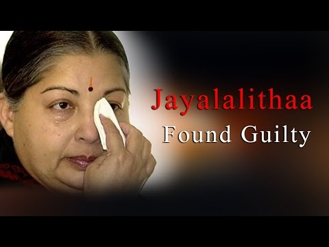 disproportionate - Tamil Nadu Chief Minister J Jayalalitha has been found guilty in an 18-year-old disproportionate assets case by a Special Court in Bangalore, reports said Sa...
