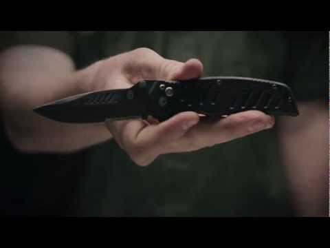 "Gerber Mini Swagger AO Knife Black G10 Assisted Opening (2.75"" Black Plain)"