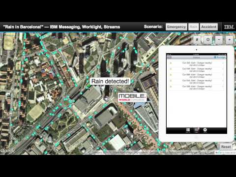 Mobile World Congress – IBM's m2m, Worklight, Streams M2M demo