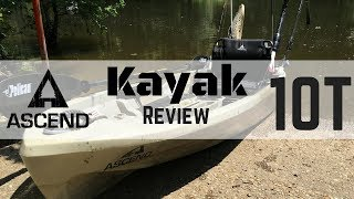 1. Ascend 10 T Bass Pro 2017 Kayak Review/Stand Test