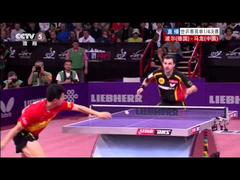 chinese - 2013 WTTC, May 13-20, Paris, FRA  Men's Singles - Quarter Finals: MA Long (CHN) - BOLL Timo (GER) All Credits and Many Thanks to CCTV & ITTF /  ITTF Fol...