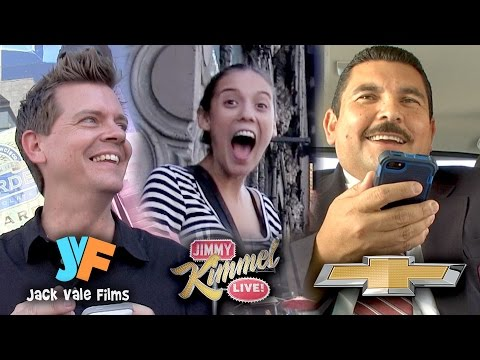 Jimmy - I teamed up with Jimmy Kimmel Live to bring Guillermo with me and prank people! We used Chevy's 4G LTE built in WiFi to locate social media profiles of strangers and then we made them think...