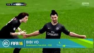 FIFA 16 Goal - Bibi Vo ft Ibrahimovic freekick, EA Games, video games