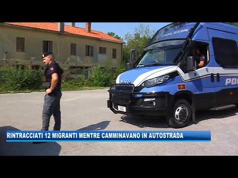 12/09/2020 - RINTRACCIATI 12 MIGRANTI MENTRE CAMMINANO IN AUTOSTRADA