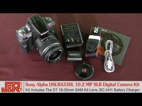 Sony Alpha DSLRA330L 10.2 Megapixel SLR Digital Camera Kit - JR.com