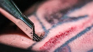 TATTOOING Close Up (in Slow Motion) - Smarter Every Day 122 - YouTube