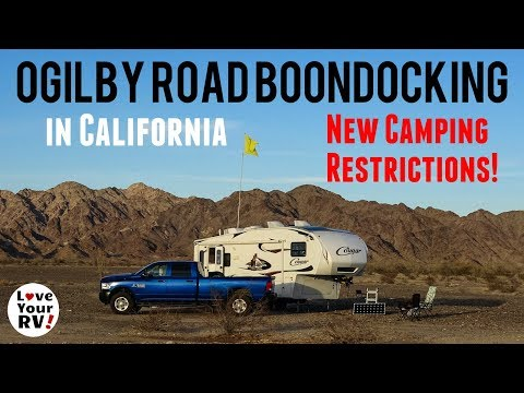 Ogilby Road BLM California - *Update* New Camping Restrictions