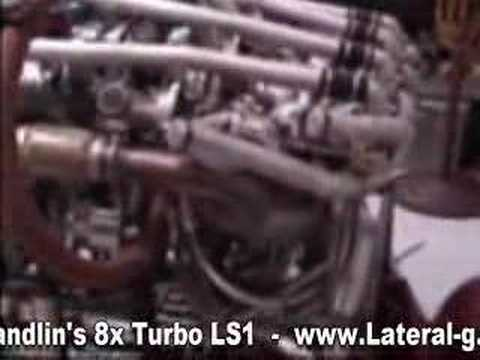 Chevy V8 engine is paired with 8 turbos