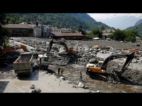 Ελβετία: Σταματούν οι έρευνες για αγνοούμενους – Φόβοι για νέες κατολισθήσεις