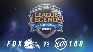 Video FOX vs. 100 - Week 5 Day 1 | NA LCS Spring Split | Echo Fox vs. 100 Thieves (2018) MP3, 3GP, MP4, WEBM, AVI, FLV Juni 2018