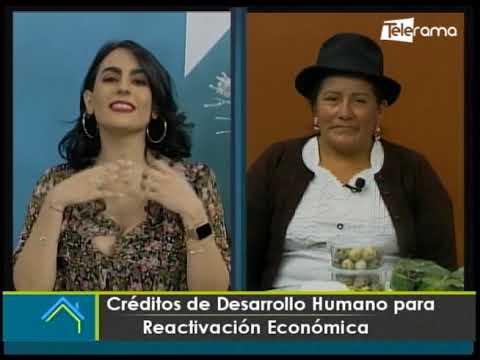 Créditos de desarrollo humano para reactivación económica