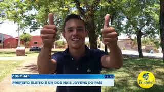 Prefeito eleito de Conchas com 21 anos é o mais jovem do país