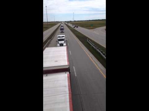 THE World's Largest Truck Convoy Sept 6/2014 in Winnipeg Manitoba, Canada