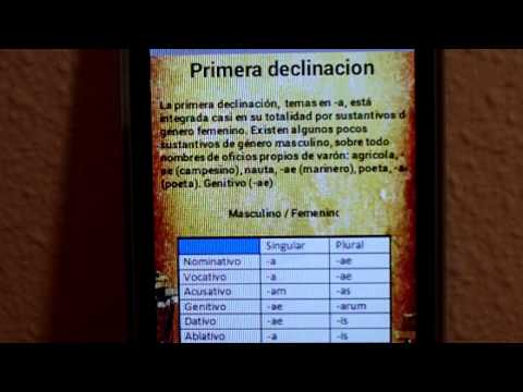 Video of Declinaciones de Latín