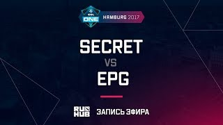 Secret vs EPG, ESL One Hamburg 2017, game 2 [Maelstorm, LightOfHeaven]