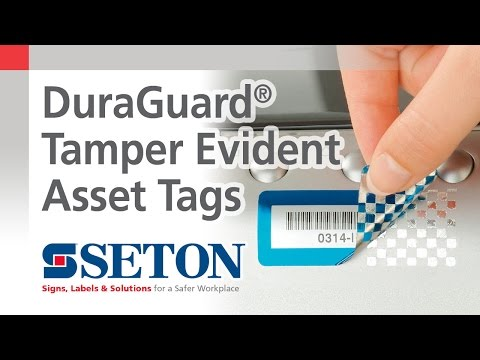 DuraGuard® Tamper Evident Asset Tags | Seton Video