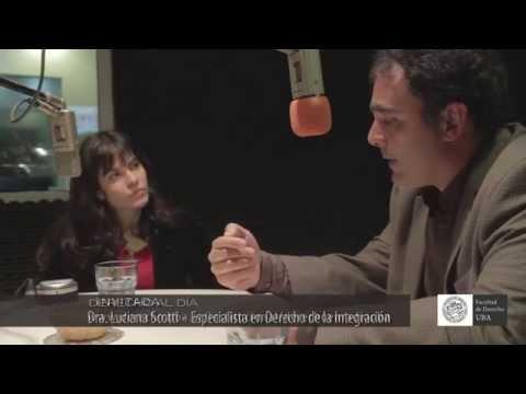 Luciana Scotti, en Derecho al Día - el programa de radio de la Facultad de Derecho