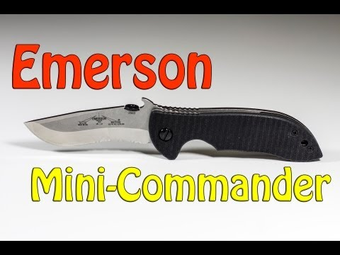 Emerson - The Mini-Commander is a great EDC knife from Emerson's Commander line of knives.