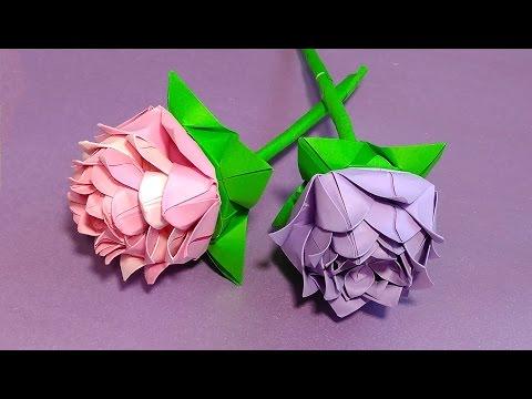 Origami rose modular easy paper rose ideas for christmas video origami rose modular easy paper rose ideas for christmas decoration mightylinksfo