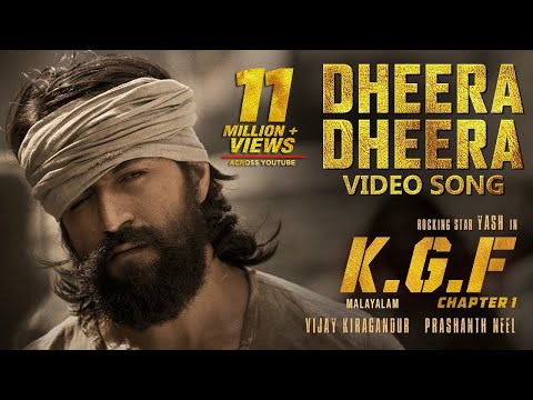 Dheera Dheera Full Video Song | KGF Malayalam Movie | Yash | Prashanth Neel | Hombale Films