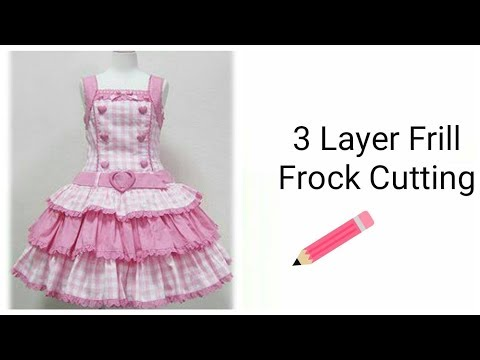 Video Stylish 3 Layers Frill Frock For Girls Cutting download in MP3, 3GP, MP4, WEBM, AVI, FLV January 2017
