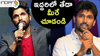 Video Difference between Allu Arjun and Nani | Stylish Star | Natural Star | Speech | Indian Cinema MP3, 3GP, MP4, WEBM, AVI, FLV November 2017
