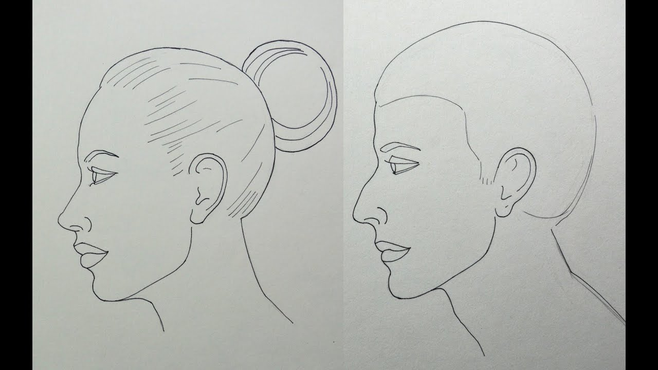 How To Draw A Face In Profile Easily Male And Female  #howtodrawafaceinprofileeasily #howtodrawmaleprofile