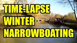 15/01/2016 Time-lapse Narrowboat Journey on the Oxford canal - Shipton on Cherwell to Bridge 219