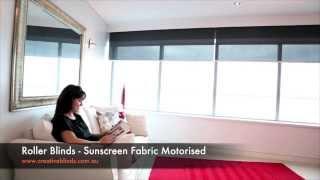 Motorised Roller Blinds Ballina with Pelmets