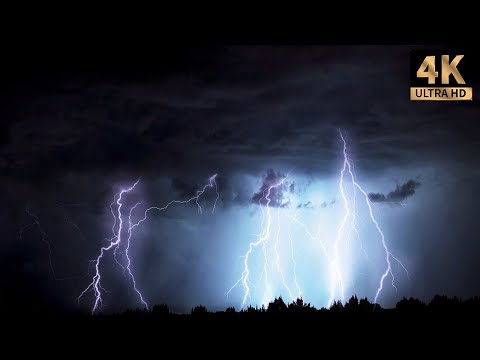 4 Hours Of Rain And Thunder, Real Storm Sound For Good Sleep |Thunderstorm #1