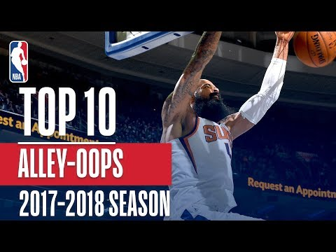 Top 10 Alley-Oop Dunks: 2018 NBA Season (видео)
