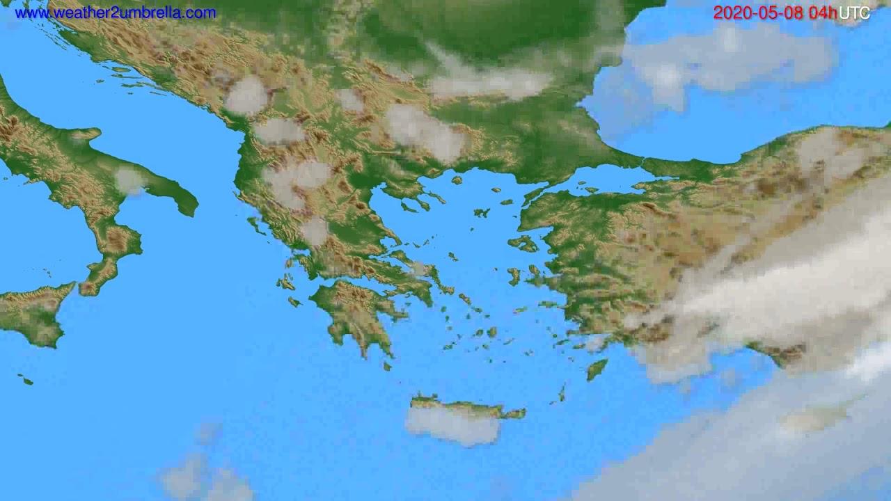 Cloud forecast Greece // modelrun: 12h UTC 2020-05-07